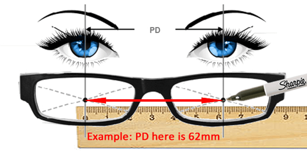 How to measure pupilar distance with a ruler and a sharpie marker