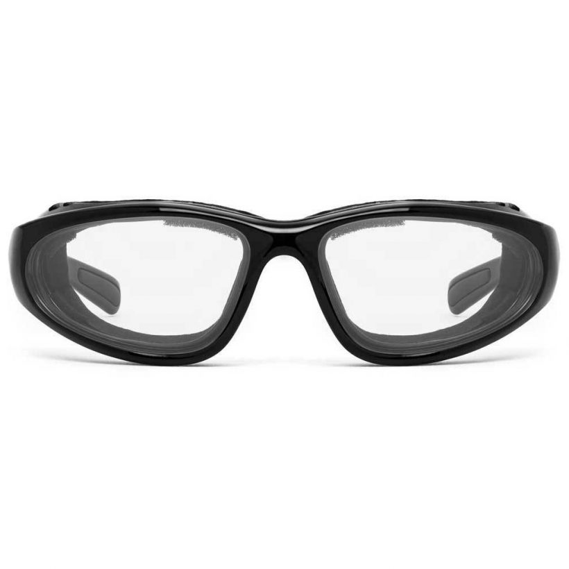 Bora Glossy Black Clear Front