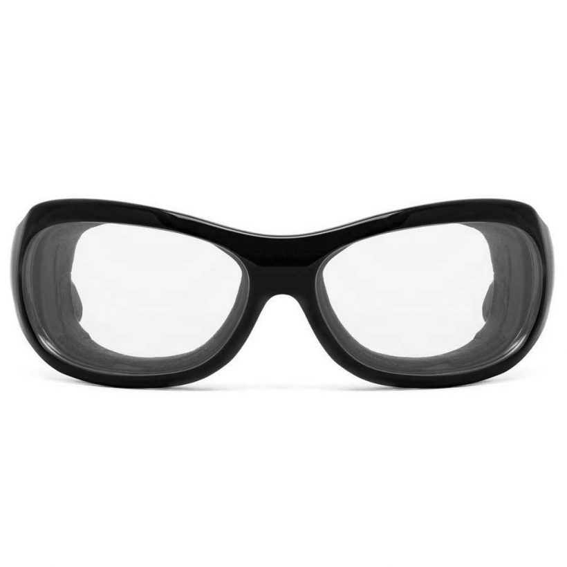 Briza Glossy Black Clear Front