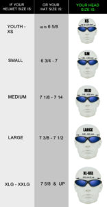 Shop motorcycle sunglasses based on your head and helmet size.