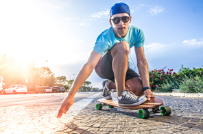 Motorcycle Sunglasses can be used for Skateboarding