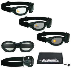 Motorcycle Goggles with Photochromic Lenses