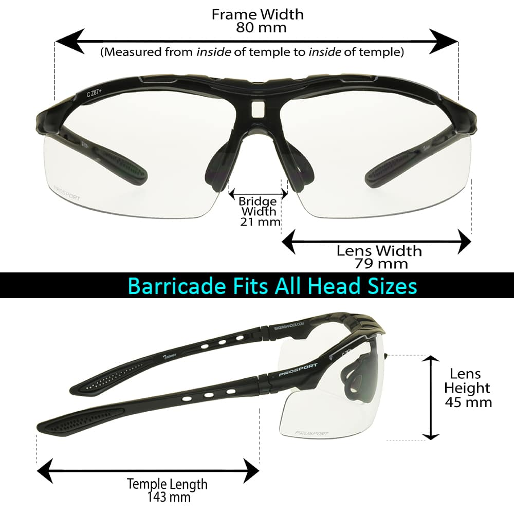 Bikershades Safety Rated Clear Sunglasses with Foam Cushion Wrap