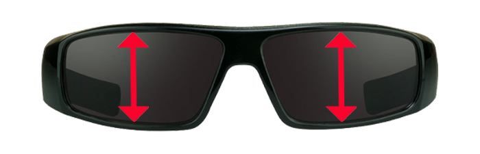 Clutch Full Lens Reader Sunglasses with Dark Grey Tint by Bikershades.com