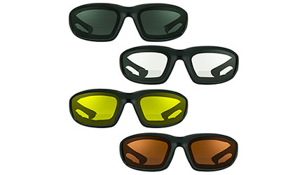 Quake Full Lens Reader Motorcycle Sunglasses at Bikershades.com