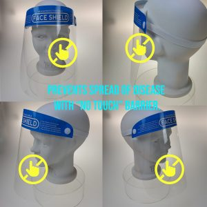 Bikershades Vshield mask can be worn by children.  Prevents children touch eyes, mouth and nose.