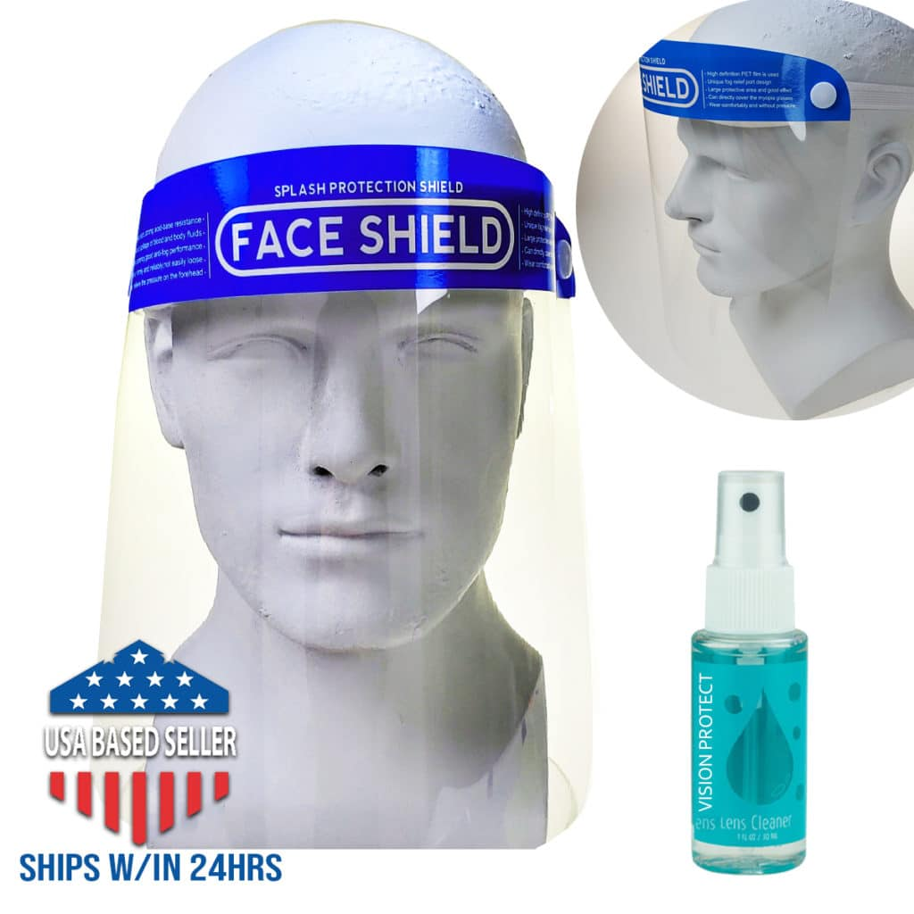 Bikershades.com Face Shield Mask Anti Virus Safety Clear Cover
