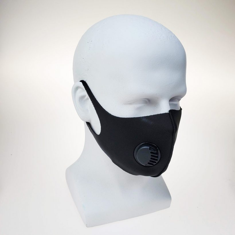 Bikershades Black Useable Face Mask with Respirator