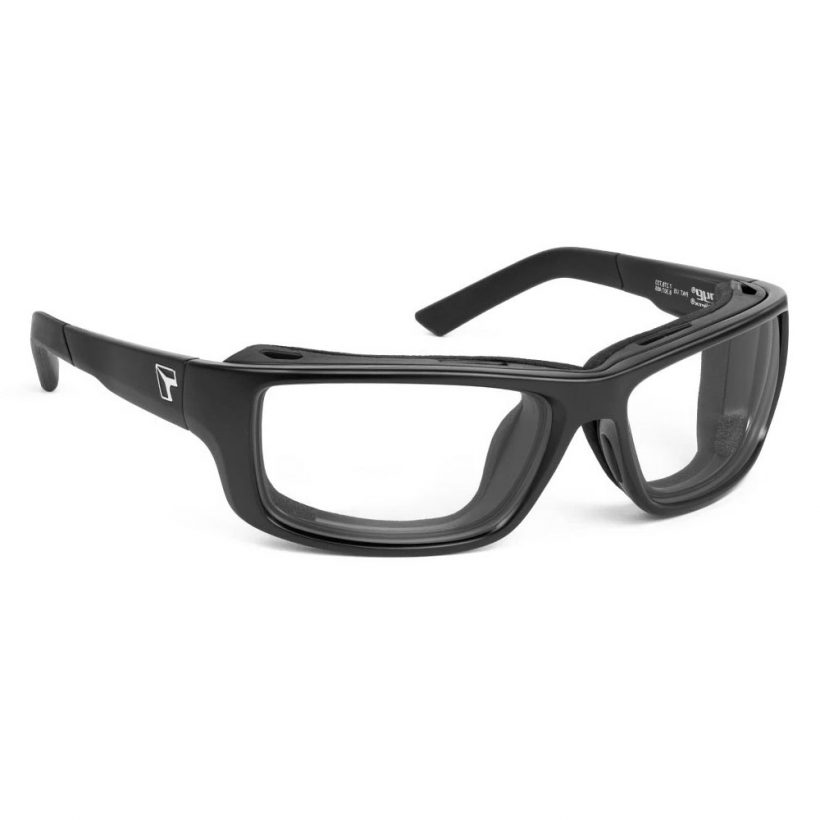 Notus Matte Black Clear Angle